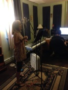 Recording vocals for our EP